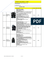 Aolait Stage Lighting Quotation Sheet