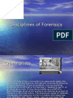 Disciplines of Forensics