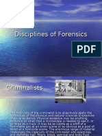 Disciplines of Forensics