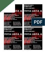 Vota Lista A