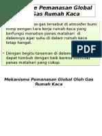 Mekanisme Pemanasan Global Oleh Gas Rumah Kaca