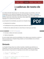 Tutorial Las Nuevas Cadenas de Texto de Javascr