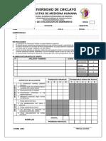 Ficha de Evaluación de Seminarios y de Historia Clinica