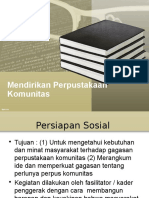 mendirikan Perpustakaan Komunitas