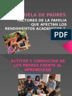 II Escuela de Padres FACTORES QUE AFECTAN EL RENDIMIENDO ACADEMICO EN ESTUDIANTES UNIVERSITARIOS