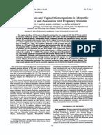 Bacterial Vaginosis and Vaginal Microorganismos in Pp