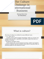 The Culture Chalange in International Business