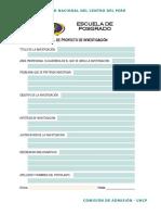 Perfil de Proyecto de Investigación 2017-i