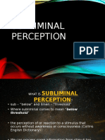Subliminal Perception and Extrasensory Perception
