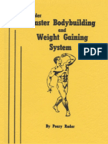 Perry Rader Master Bodybuilding and Weight Gaining System