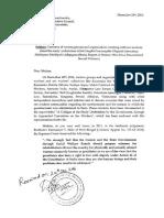 Memorandum Submitted to Jayamala