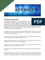 JEE Advanced 2017 Syllabus Here