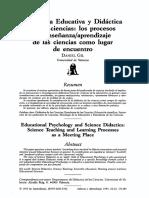 Psicología Educativa y Didáctica de Las Ciencias - Los Procesos de Enseñanza-Aprendizaje de Las Ciencias Como Lugar de Encuentro - Daniel Gil