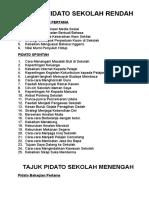 TAJUK PIDATO SEKOLAH RENDAH.doc