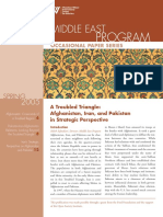 A Troubled Triangle - Afghanistan, Iran, And Pakistan in Strategic Perspective