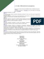 HOTĂRÂRE Nr. 384 Din 14 Iulie 1998 Privind Recunoaşterea Etaloanelor Naţionale