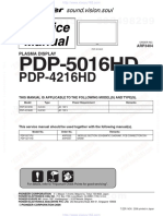 Pioneer Pdp5016hd Service Manual