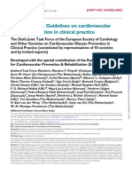 2016 European Guidelines on Cardiovascular PREVENTION