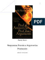 Randy Alcorn Versión en español de ProLife Answers to Pro Choice Arguments Reducido