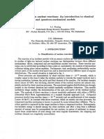 Pre-equilibrium nuclear reactions