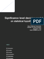 Significance Level Decision Model on Statistical Hypothesis Testing