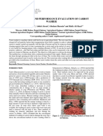 Development and Performance Evaluation of Carrot washer