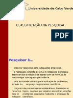 Aula 4 - Classificação Da Pesquisa