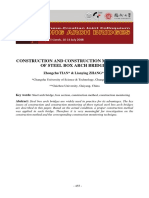 Construction and Construction Monitoring of Steel Arch Bridges