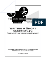 Writing A Short Screenplay (Materials and resources assembled by Professor Elisabeth Benfey)