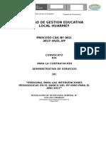 Convocatoria Cas Ugel Huarmey Intervenciones Pedagogicas 3 1