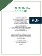 A Ti Mi Amiga Soledad Poema