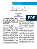 The Need for an International Standard on Lightning Location Systems