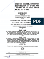 HOUSE HEARING, 104TH CONGRESS - H.R. 1862 DISTRICT OF COLUMBIA CONVENTION CENTER PRECONSTRUCTION ACT OF 1995, AND H.R. 1843, DISTRICT OF COLUMBIA SPORTS ARENA FINANCING ACT OF 1995