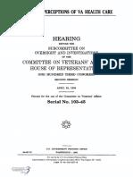 HOUSE HEARING, 103TH CONGRESS - VETERANS' PERCEPTIONS OF VA HEALTH CARE