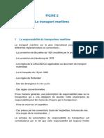 Fiche Transport Maritime
