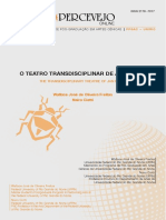O Teatro Transdisciplinar de Jan Fabre