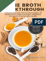 Epigenetic Labs Bone Broth Cookbook 2016