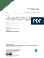 High Sensitivity SMS Fiber Structure Based Refractometer - Analys