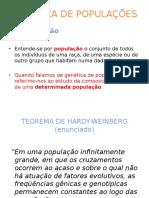 Genetica de Populações - o Equilíbrio de Hardy-weinberg