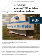 Candidate for Dean of UB Law School Charged in Embezzlement Scheme - The Buffalo News