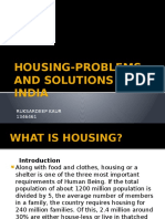 Housing-problems and Solutions in India