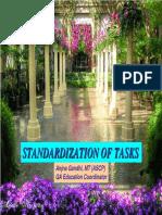 Standardization of Tasks