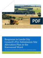 Response to Leeds City Council's Pre-Submission Site Allocation Plan in the Harewood Ward