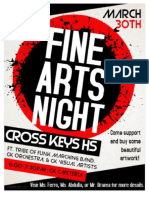 Fine Arts Night Flyer