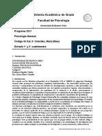 Programa Psicología General Colombo