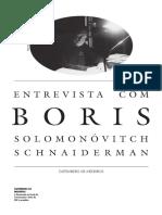 Entrevista Com Boris Schnaiderman