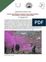FIDH Note de Position Conjointe Mars2017 RDC