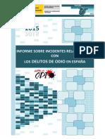 ES - Informe Delitos de Odio 2015 (Min Interior)
