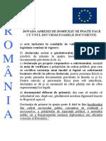 Documente Dovada Adresa Domiciliu