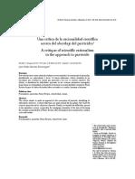 Una crítica de la racionalidad científica acerca del abordaje del parricidio